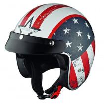 Přilba HELD Black Bob USA flag